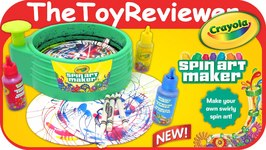 Crayola Spin Art Maker Paint Creations Unboxing Toy Review
