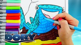 Coloring DESTINY Finding Dory Coloring Pages And Drawing Kids Activity