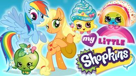 Shopkins Go To Ponyville - My Little Shopkins - Pinkie Pie, Rainbow Dash, Polly Polish and More