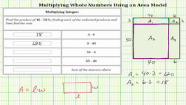 Multiply 2 Digit Whole Numbers Using An Area Model