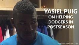 Yasiel Puig On Helping Dodgers In Postseason