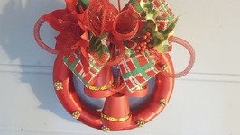 Dollar Tree Holiday Wreath - DIY Christmas