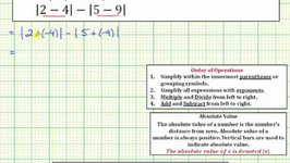 Ex: Determine the Absolute Value of a Difference Two Absolute Values a-b-c-d
