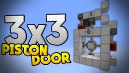 3x3 Piston Door Tutorial- Compact Red. & 3x3 Piston Door Tutorial- Compact Redstone Door in MCPE 0.15.0 ...