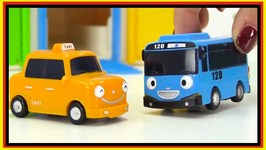 Toy Cars Helpers (2) Emergency Vehicles Tayo bus, Ambulance, Taxi Cab, Rogi Tow Truck
