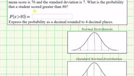 Ex 2: Find a Probability Using TI84 Given a Data Value Involving a Normal Distribution - GreaterFind a Probability Using TI84 Given a Data Value Involving a Normal Distribution - Greater