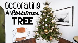 RUSTIC GLAM CHRISTMAS TREE Decorating for Small Apartments  Steps to Tree Decorating