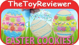 Decorating Easter Cookies Kit With Sprinkles, Icing And Gum Drops