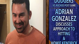 Dodgers Adrian Gonzalez Discusses His Approach To Hitting