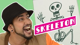 Mad Stuff With Rob - How To Draw A Skeleton- DIY Drawing For Children