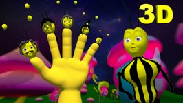 Funny Bee Man Finger Family  3D Finger Family Nursery Rhymes for Children