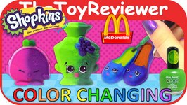 DIY Color Changing Shopkins McDonalds Happy Meal Nail Polish Unboxing Toy Review