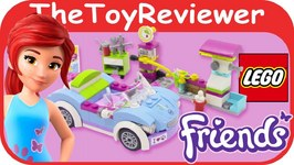 LEGO Friends Mias Roadster Girls Playset With Car Wash, Repair Shop and Gas Station
