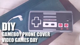 Mad Stuff With Rob - DIY Video Game Phone Cover  Video Games Day