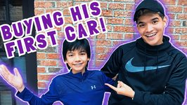 BUYING LITTLE BROTHER HIS FIRST CAR