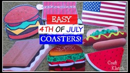 Easy 4th of July Coasters  DIY  Craft Klatch  Another Coaster Friday