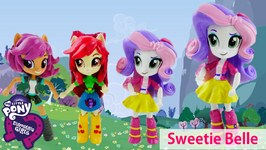 New SWEETIE BELLE Custom Doll From My Little Pony Equestria Girls Minis Doll Tutorial