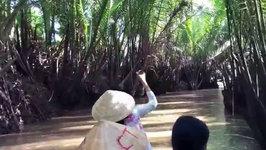 Paddling Along A Small Tributary - Mekong Delta - Vietnam