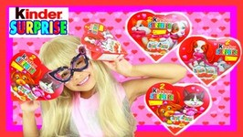 Pink Spidergirl In Real Life Opens Valentine's Day Kinder Surprise Eggs