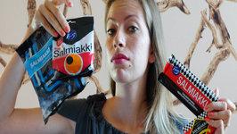 Eating Salmiakki Taste Test - Finnish Cuisine & Finnish Food