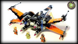 Lego Star Wars 75102 POE'S X-WING FIGHTER Stop Motion Review  ALEXSPLANET