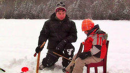 This is Emily Yeung Ice Fishing