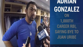 Adrian Gonzalez On 1000th Career RBI, Saying Bye To Juan Uribe