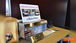 Alaska Airlines' Pancake Printer Attracting Passengers to Airport Lounges