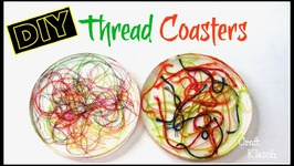 Thread Coaster DIY  Resin Crafts  Another Coaster Friday  Craft Klatch