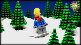 Lego Simpsons And Batman Christmas  How Homer Tried To Steal Christmas Donuts From Santa Workshop