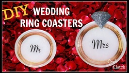 Wedding Ring Coasters DIY  Another Coaster Friday