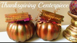 Thanksgiving Centerpiece DIY  Fall Crafts  Craft Klatch