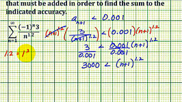 Ex: Number of Terms Needed in Partial Sum to Estimate an Infinite Sum with a Given Error