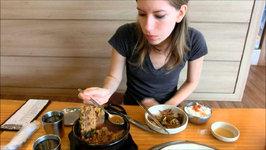 Eating Korean Hangover Soup (Haejangguk) At A Restaurant In Yongin, Korea
