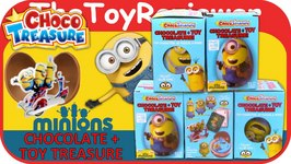 Minions Choco Treasure Chocolate Eggs With Toy Surprise  Unboxing Toy Review