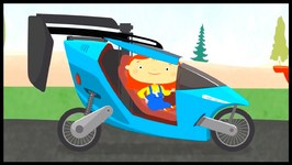 The FLYING CAR - Doc McWheelie - Cartoons For Kids