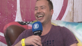 Sander Van Doorn backstage at Tomorrowland