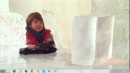 This is Emily Yeung at an Ice Hotel