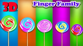 Lollipop Finger family Songs 3D  Finger Family Songs For Children  3D Animation Rhymes