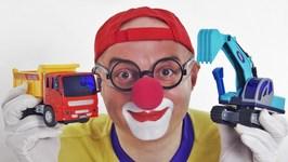 Toy Cars Clown Racing Car - Blocking Blacks - Lego Truck Crane