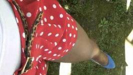 OOTD: Color Blocking, Animal Print, Polka Dots, Short Shorts, Pleats