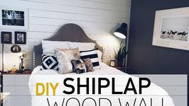 DIY Wood Wall  White Shiplap Wall