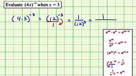 Evaluate an Expression with a Negative Exponent (09x-51)