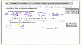 Multi-Step Unit Conversions (US Standard - Unit Fractions)