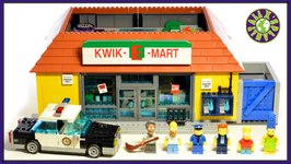 Lego Simpsons KWIK E MART Lego Simpsons Store Stop Motion Review  ALEXSPLANET
