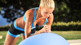 40 min Beginner Total Body Workout with Dumbbells and Stability Ball