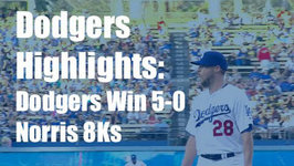 Dodgers Highlights: Bud Norris Throws Out 8Ks in Dodgers 5-0 Win vs. Rockies