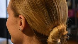 Golden Globe Looks- Margot Robbie Inspired Low Bun