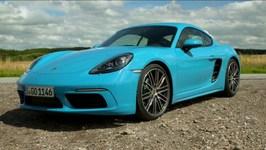 Porsche 718 Cayman S Miami Blue Exterior Design Trailer