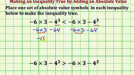 Add Absolute Value Symbols to Make an Inequality True (Common Core Math 7/8 Ex 14)